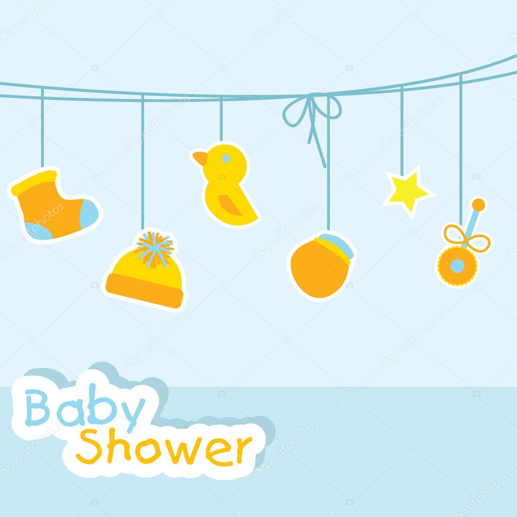 Baby Shower Background For Baby Stuff, Greeting Cards And Others U2014 Vector  By Glossygirl21