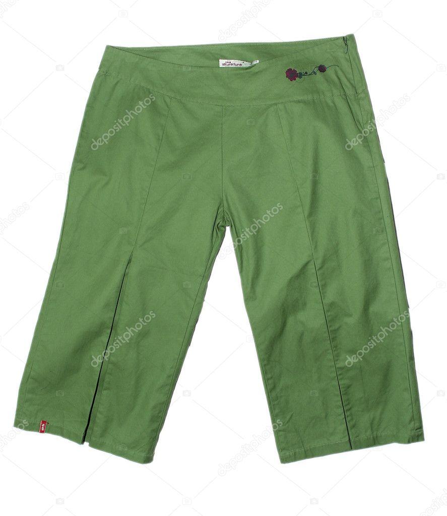 6ee4647af3 grüne Damen kurze Hosen — Stockfoto © bioboy #11822269