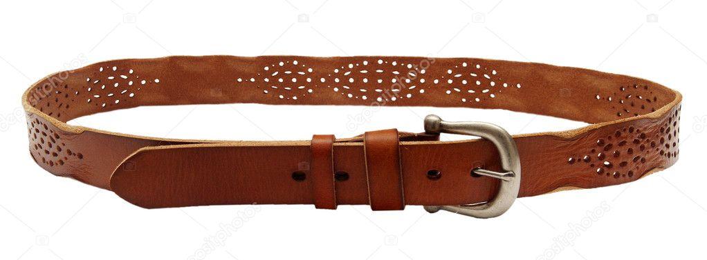 790cd2d7d38d ceinture en cuir sur un fond blanc — Photographie bioboy ©  11822999