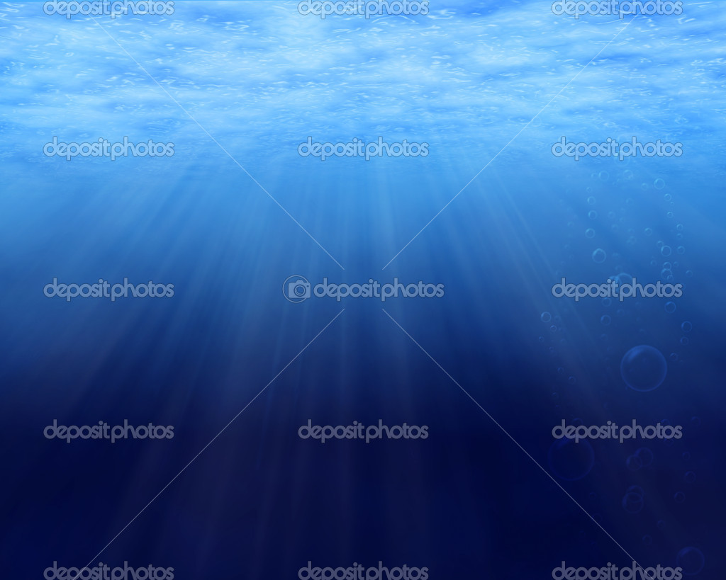 Underwater background with copy space