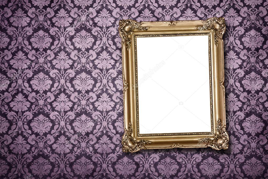 leere Rahmen an der Wand mit Beschneidungspfad — Stockfoto ...