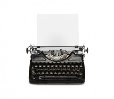 Retro typewriter with copy space