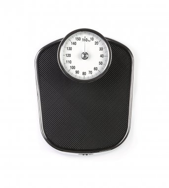Weight scale isolated on white