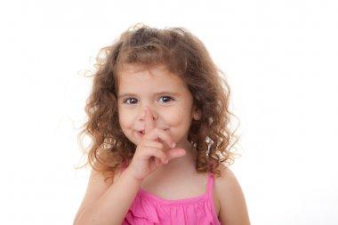 Child finger to lips