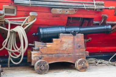Small ancient ship gun