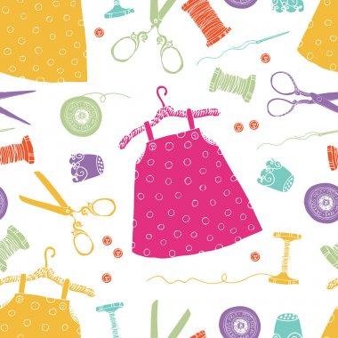 Children's dresses background