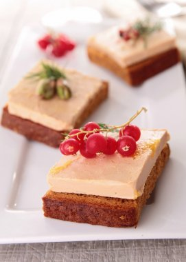 Appetizer, foie gras and gingerbread