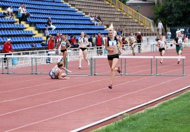 Athletes on the international athletic meet