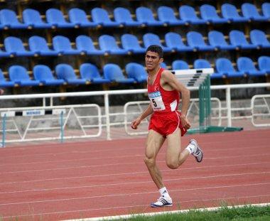 Yalta, Ukraine - May 25: athlete on the international athletic meet between UKRAINE, TURKEY and BELARUS on May 25, 2012 in Yalta, Ukraine.