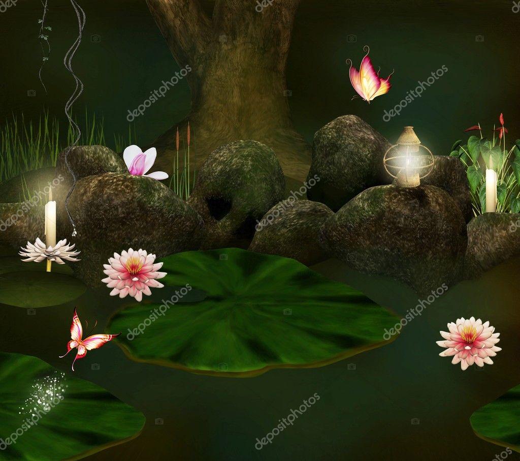 The secret pond background