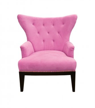 Pink sofa isolated