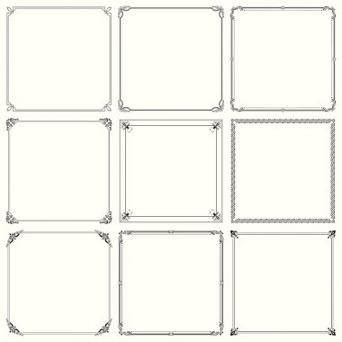 Decorative frames (set 20)