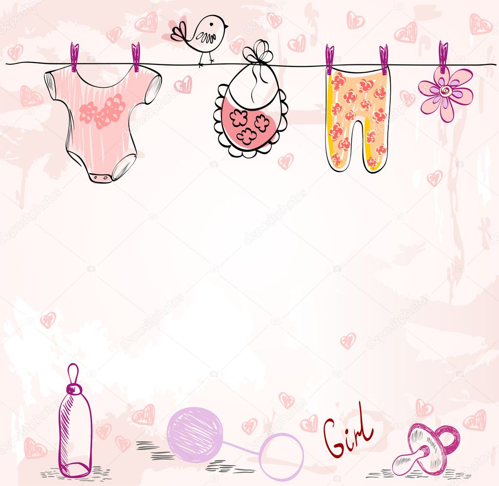 Babies Scrapbook U2014 Stock Vector