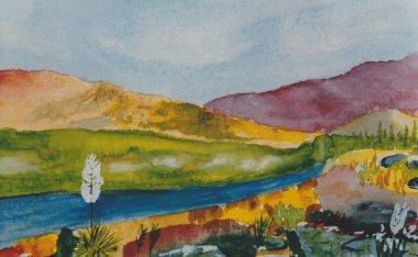 """Картина, постер, плакат, фотообои """"Santa fe, nuovo Messico"""", артикул 11815806"""