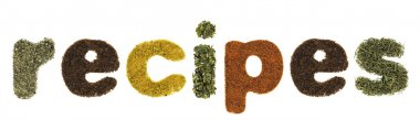 Recipes word made of herbs and spices