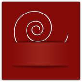 weiße Wirbelapplikation auf rotem Hintergrund