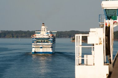 Huge sea ferry