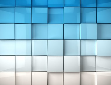 Abstract image of cubes background in blue toned stock vector
