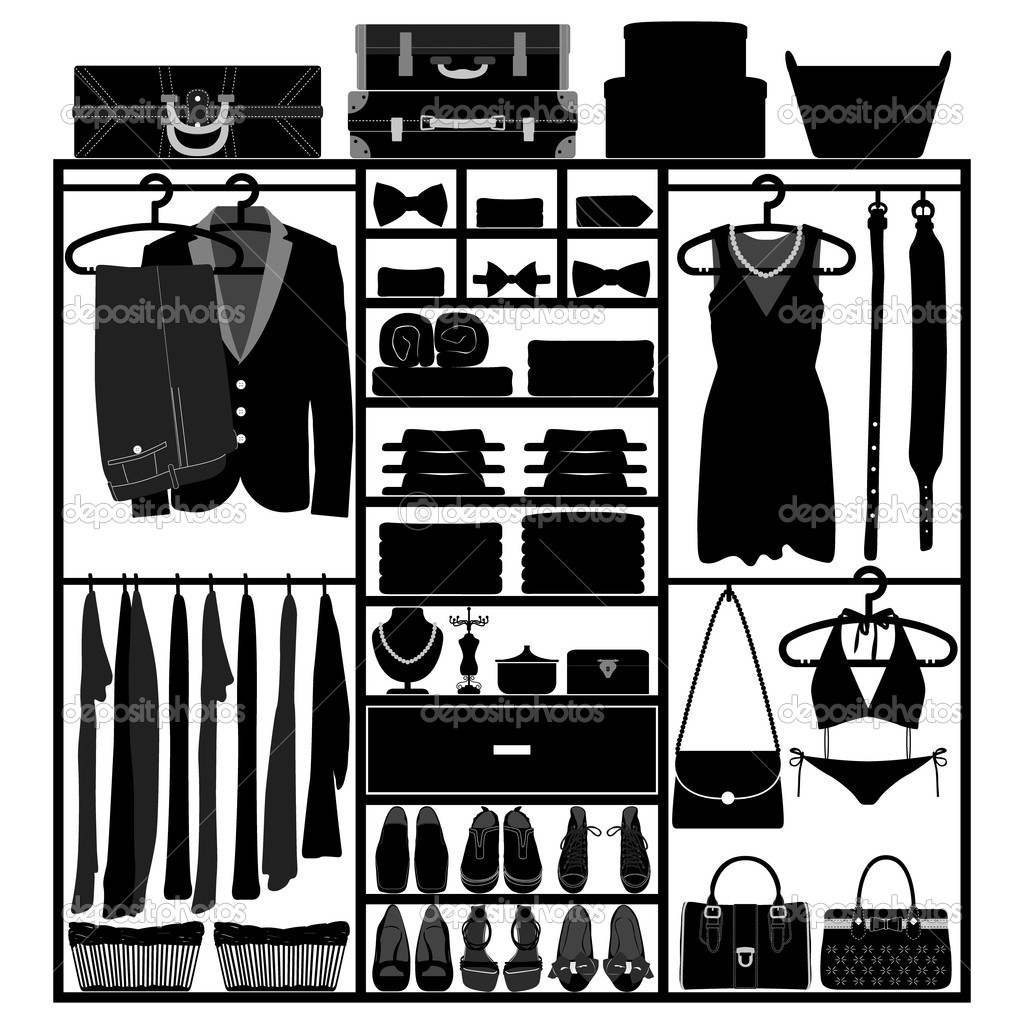 Kleiderschrank clipart  Accessories Stock Vectors, Royalty Free Accessories Illustrations ...
