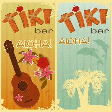 Two cards for Tiki bars