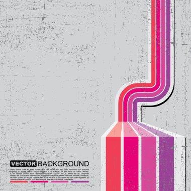Retro grunge background - vector clip art vector