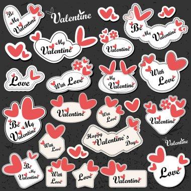 Valentine Day card clip art vector