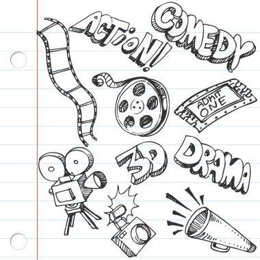 Notebook Paper Entertainment Doodles