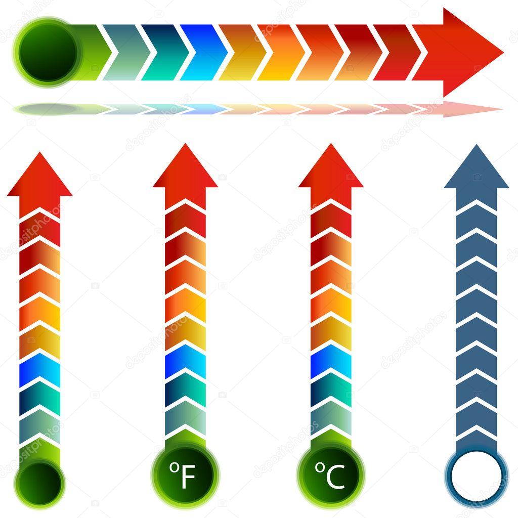Thermometer Temperature Arrow Set
