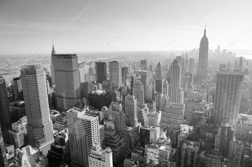 new york city skyline schwarz wei stockfoto rabbit75 dep 11173662. Black Bedroom Furniture Sets. Home Design Ideas