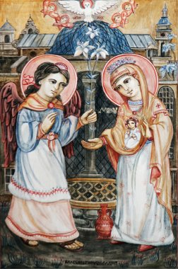 Icon of Annunciation of Virgin Mary