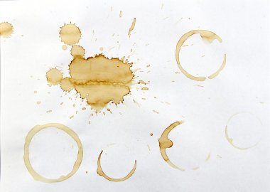 Coffee stains on paper stock vector