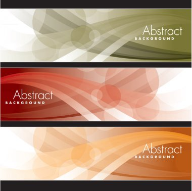 Set of Vector Banners. Abstract Background. stock vector