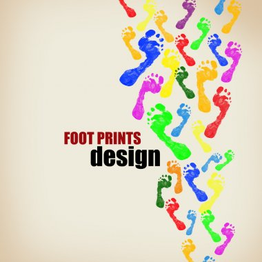 Foot prints background