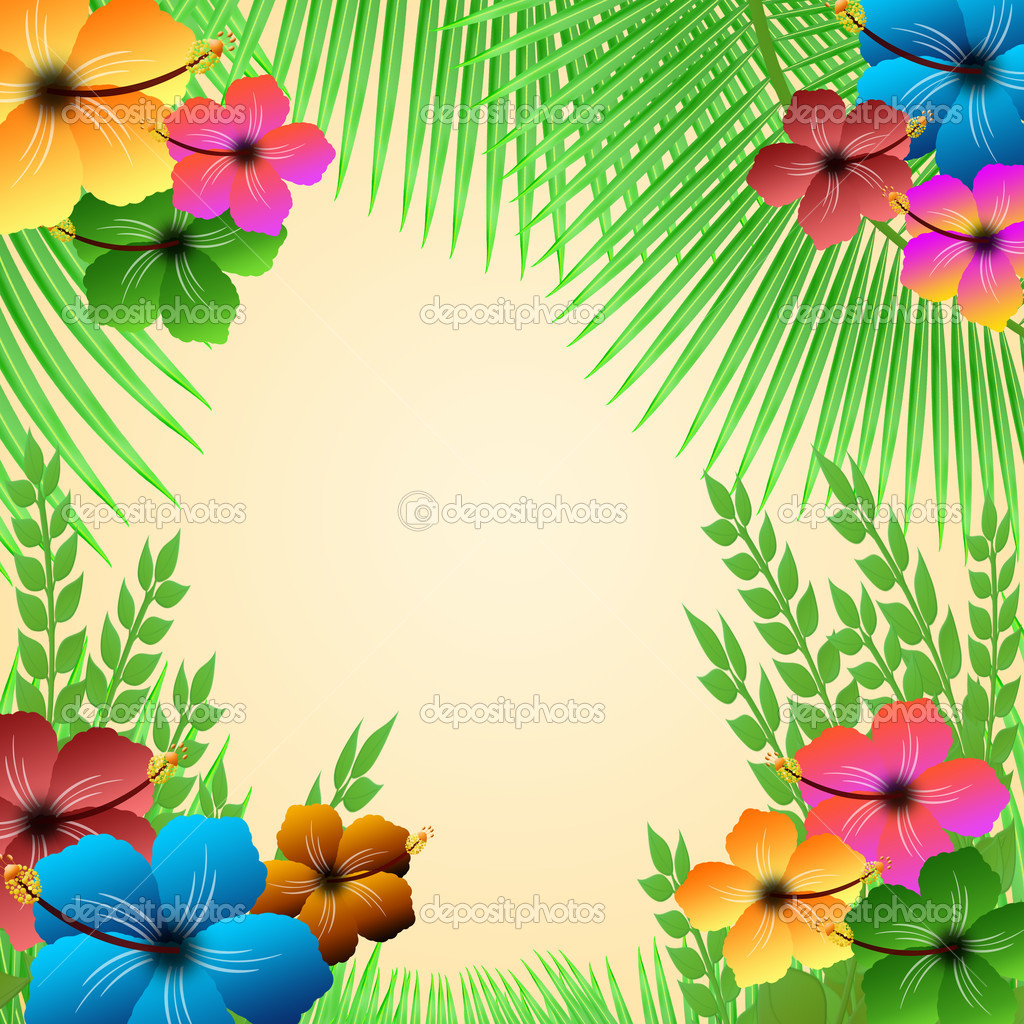 Tropical Frame Stock Vector 169 Roxanabalint 11525782