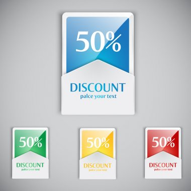Discount cards. Vector