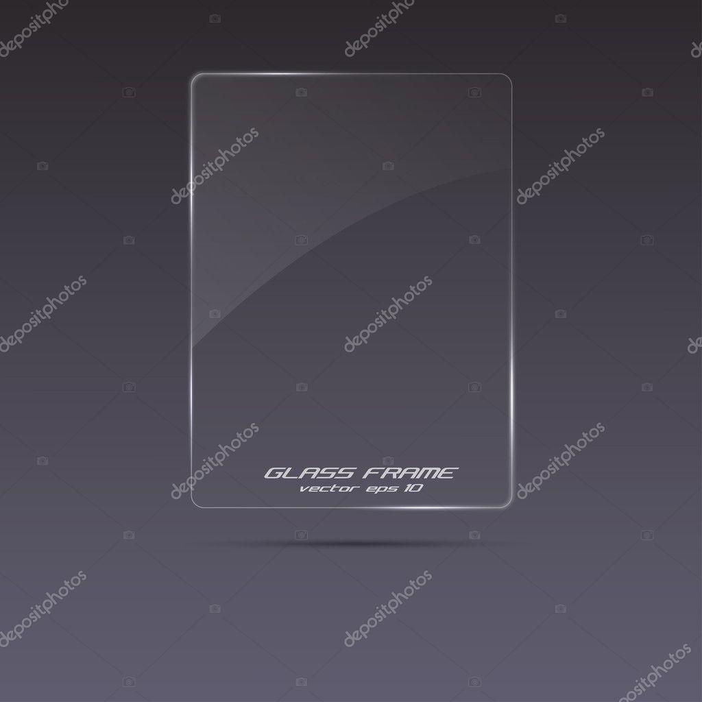 Glass frame. vector eps 10