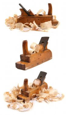 Three old wooden carpenter's planes