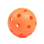 oranžový florbalový míček izolovaných na bílém pozadí