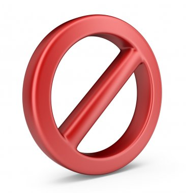 Stop symbol. 3D Icon isolated on white