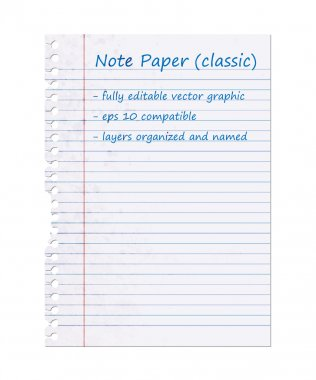 Classic Note Paper