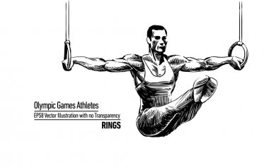Vector Illustration Olympic Games Athletes | Rings