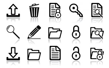 Navigation icon set. Vector illustration of different interface web icons stock vector