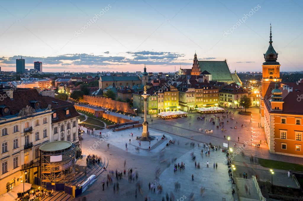 Фотообои Old Town panorama of Warsaw