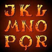Fényképek Abstract art font, hand-drawn alphabet (j, k, l, m, n, o, p, q, r )