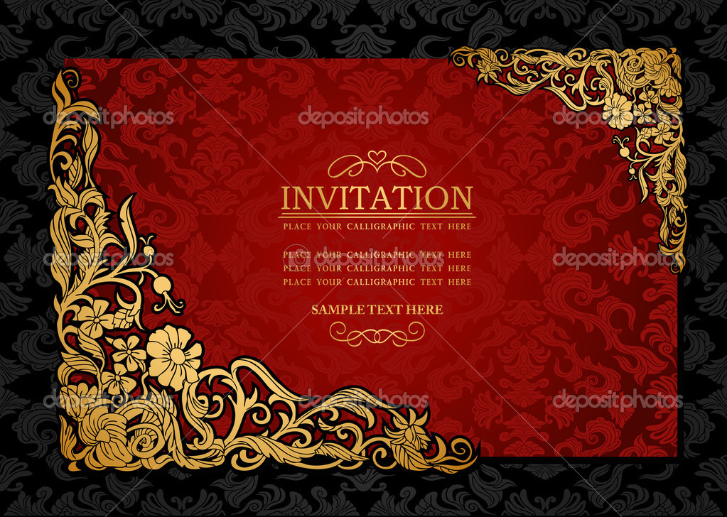 Template Invitation Card with best invitations layout