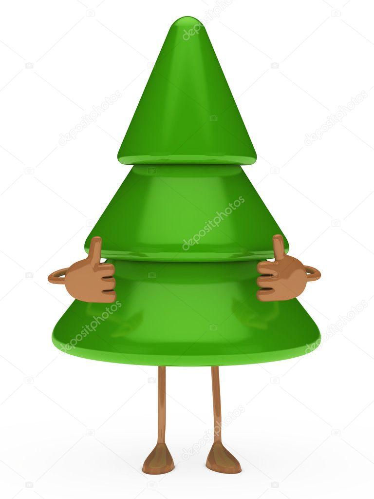 Kerstboom Figuur Duimschroef Opwaarts Stockfoto C Dariusl 11047862