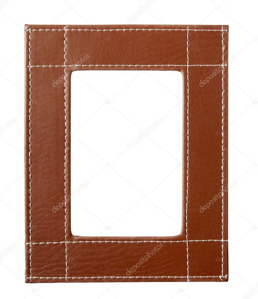 cuero marrón de bordes de marco — Foto de stock © PicsFive #11078202