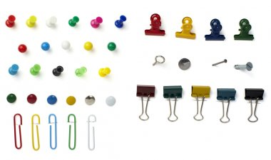 Push pin paper clip