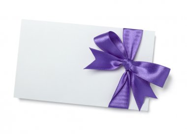 Purple pink ribbon card note