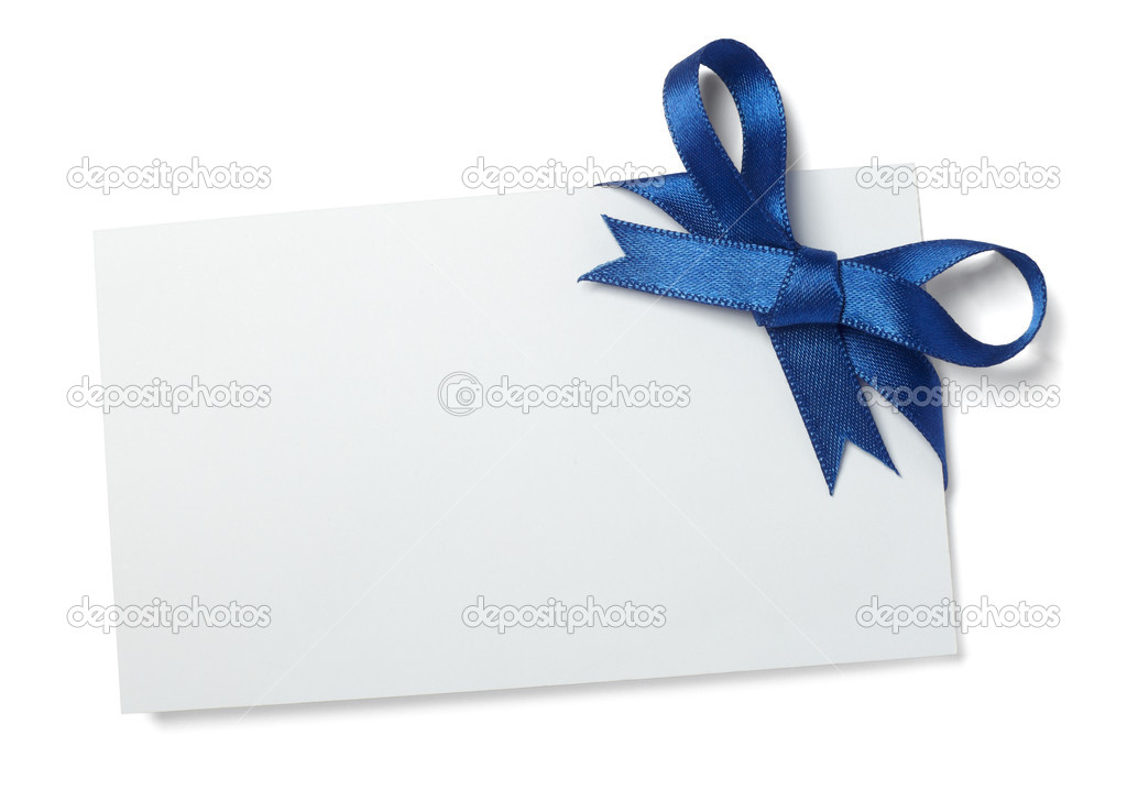 Blue ribbon card note
